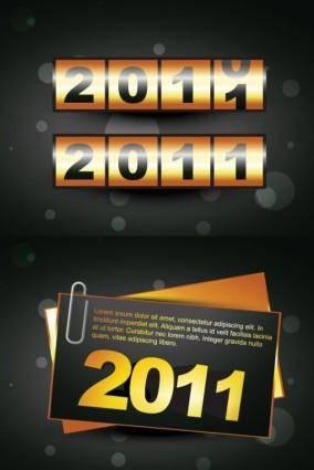 free vector 2 2011 new year clip art