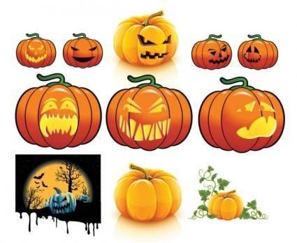 free vector Vector halloween pumpkin