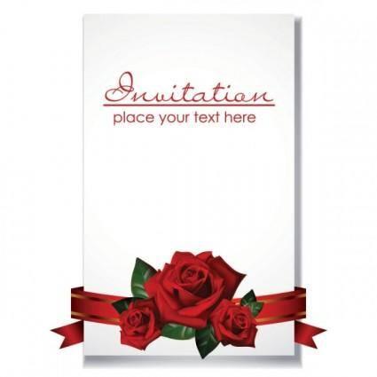 Romantic wedding invitations vector