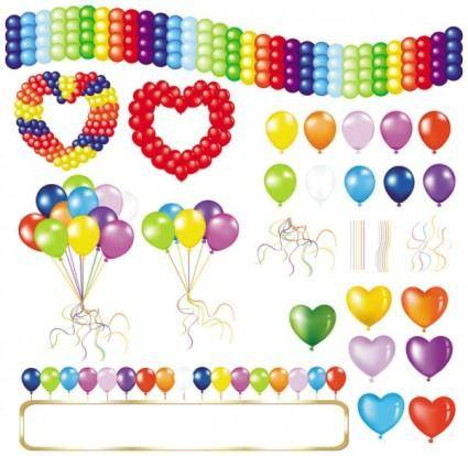 free vector Beautifully colored balloons 05 vector