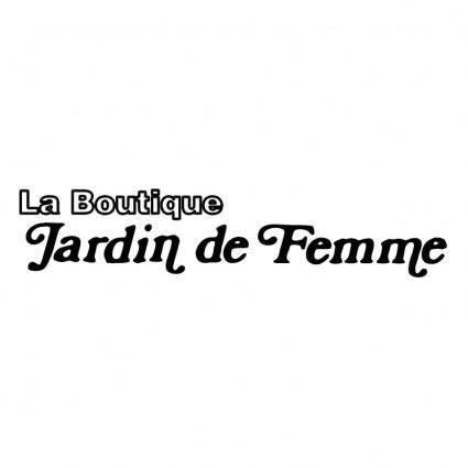 free vector Jardin de femme