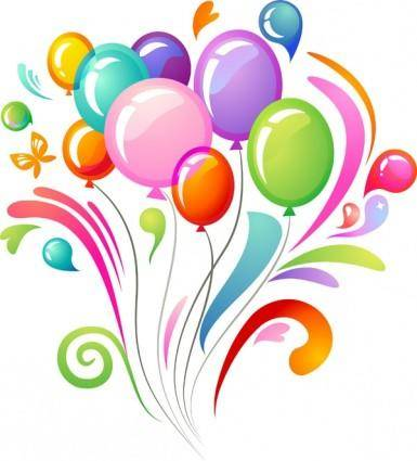 Vector multicolored balloons