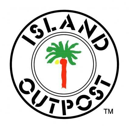 free vector Island outpost