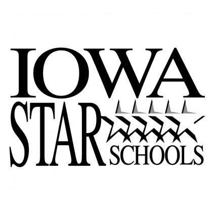 free vector Iowa star schools