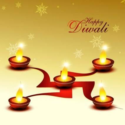 free vector Beautiful diwali cards 01 vector
