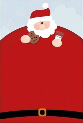 free vector Vector santa claus obesity