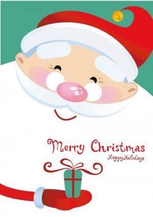 free vector Vector cute santa claus