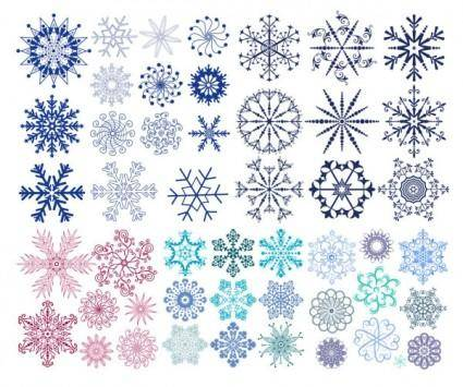 free vector A wide range of snow graphics vector