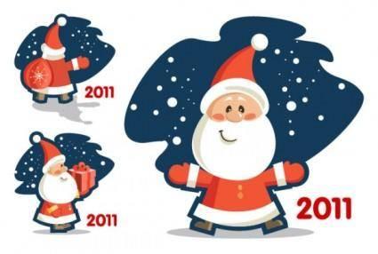 free vector Vector cute santa claus 2011