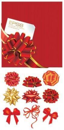 free vector Vector festive ribbon