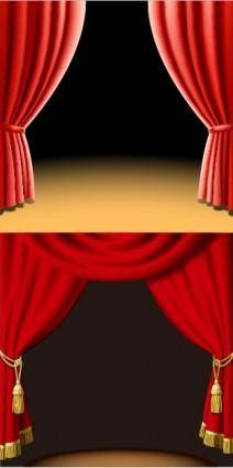 2 beautiful curtain vector