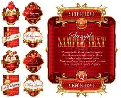 free vector Vector festive label