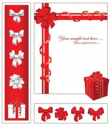 free vector Gift ribbon bow vector
