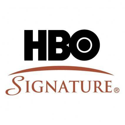 free vector Hbo signature