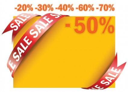 free vector Sale ribbon card vector