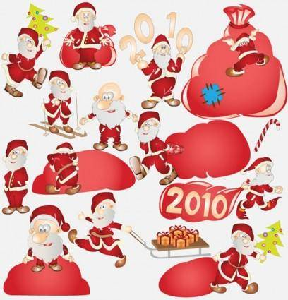 Vector cute santa claus