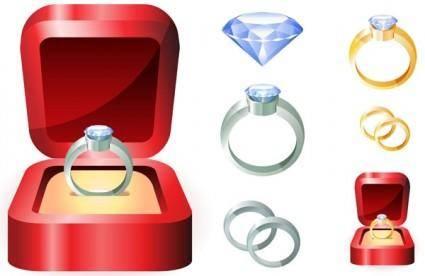 free vector Wedding ring clip art