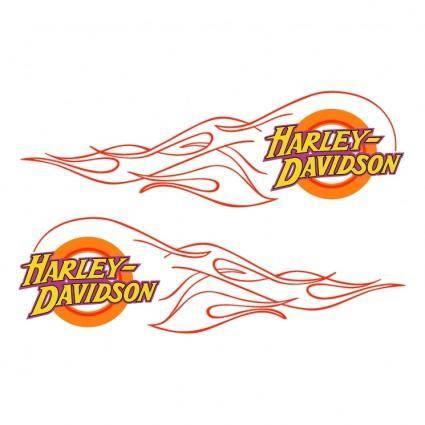 free vector Harley davidson flame