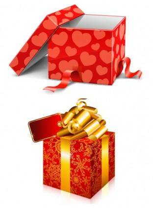 free vector Two gift boxes vector