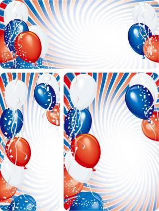 free vector Vector festive colorful balloons