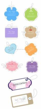 10 lovely label tag vector