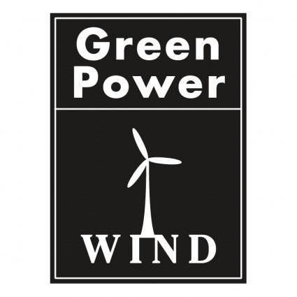 free vector Green power wind