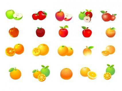 free vector Apples oranges vector