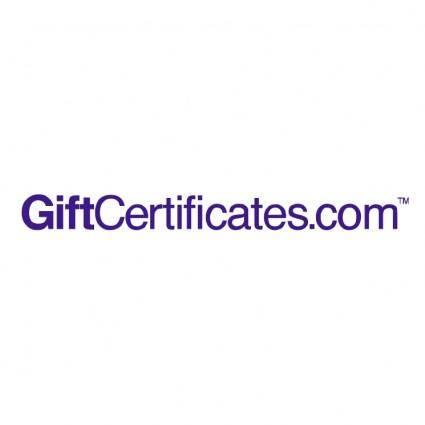 free vector Giftcertificatescom