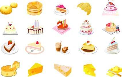 free vector Cheese cake dessert vector