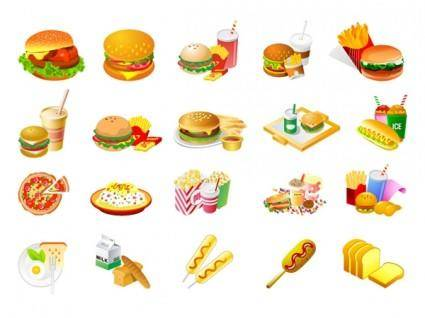 free vector Westernstyle fast food clip art