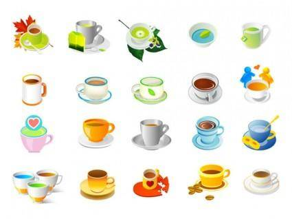 Plants tea and coffee vector