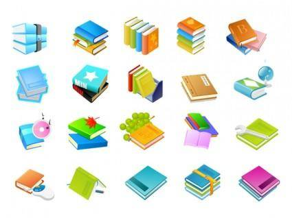 free vector Books of the eight series vector