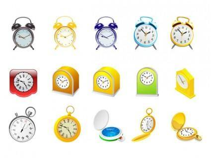 free vector Alarm clock and stopwatch vector