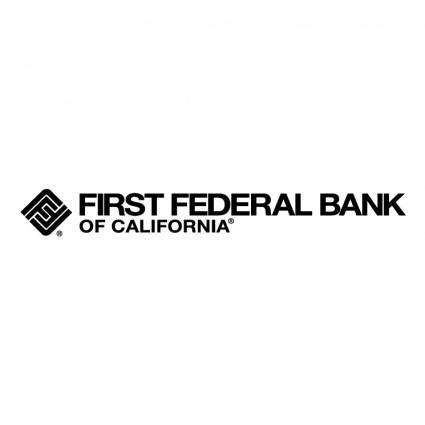 free vector First federal bank of california