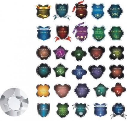 free vector Metal badge clip art