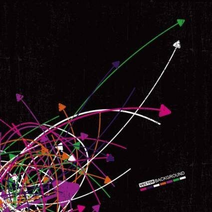 free vector The trend of colored arrows 18 vector