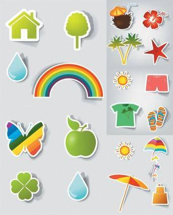 Vector cute stickers