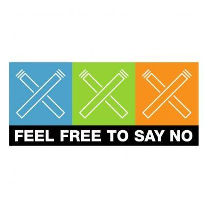 free vector Feel free to say no