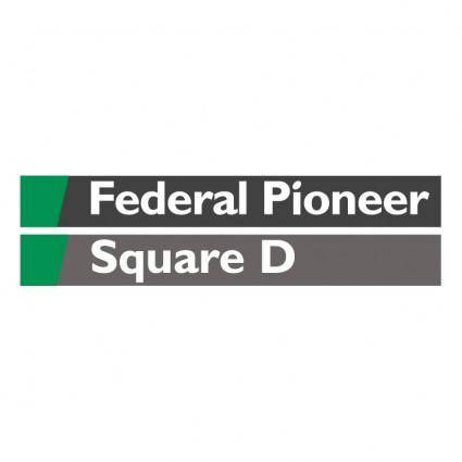 free vector Federal pioneer square d