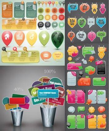 free vector Variety of decorative elements vector