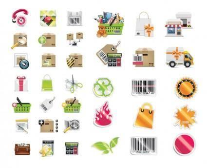 Shop shopping decoration vector