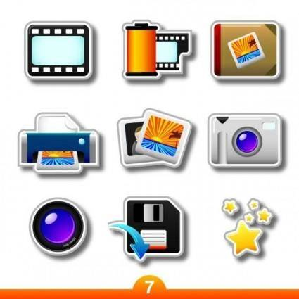 free vector Photographic product label vector