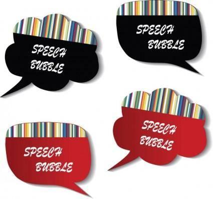 free vector 1 vector cute dialog