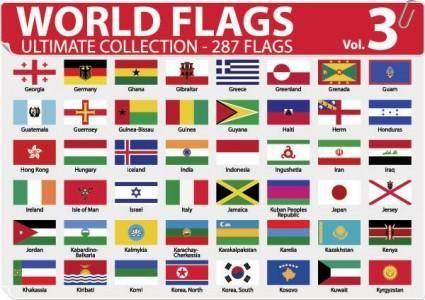 free vector National or regional flag and regional flag vector 3