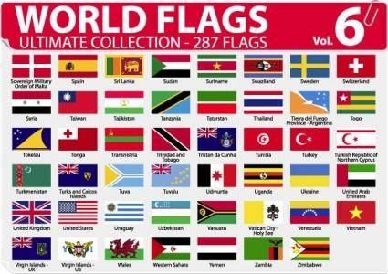 free vector National or regional flag and regional flag vector 6