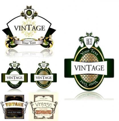 free vector Fine bottle label vector