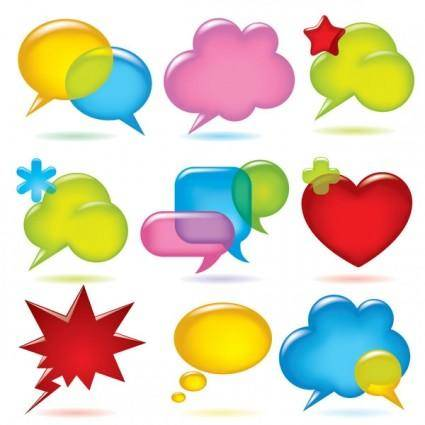 Vector colorful dialogue bubbles