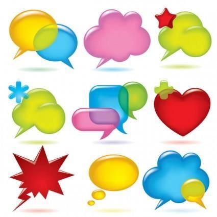 free vector Vector colorful dialogue bubbles