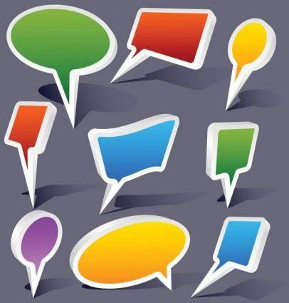 free vector Dialog colorful threedimensional vector