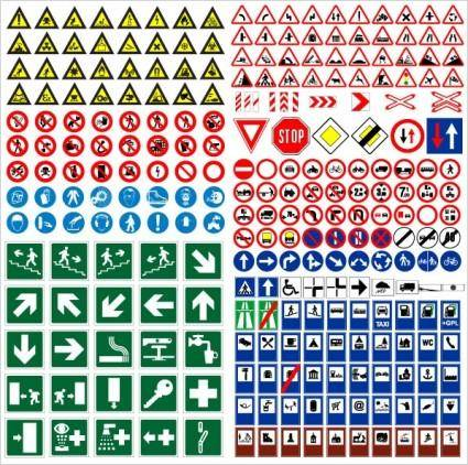 free vector Road traffic signs vector